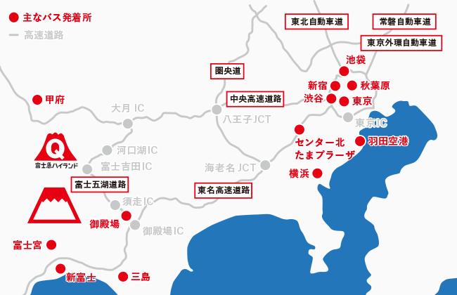 浜松駅前バス停マップ(路線バス・高速バス・シャ …